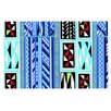 KESS InHouse American Blanket Pattern by Vikki Salmela Decorative Doormat