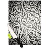 KESS InHouse Black and White Paisley by Caleb Troy Cutting Board
