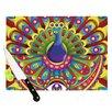 KESS InHouse Peacolor by Roberlan Rainbow Peacock Cutting Board