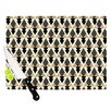 KESS InHouse Glitter Triangles in Gold & Black by Nika Martinez Geometric Cutting Board