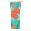 KESS InHouse Summer Rose Curtain Panels (Set of 2)