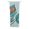 KESS InHouse Feathers Curtain Panels (Set of 2)