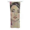 KESS InHouse Face Curtain Panels (Set of 2)
