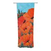 KESS InHouse Poppies Curtain Panels (Set of 2)