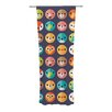 KESS InHouse Smiley Faces Repeat Curtain Panels (Set of 2)