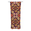 KESS InHouse Indian Jewelry Floral Curtain Panels (Set of 2)