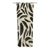 KESS InHouse Feather Pattern Curtain Panels (Set of 2)