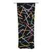 KESS InHouse Sprinkles on Black Curtain Panels (Set of 2)