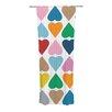 KESS InHouse Diamond Hearts Curtain Panels (Set of 2)