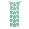 KESS InHouse Mint Up and Down Hearts Curtain Panels (Set of 2)