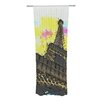 KESS InHouse Eiffel - Bon Jour Curtain Panels (Set of 2)