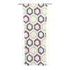KESS InHouse Hexy Small Curtain Panels (Set of 2)