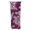 KESS InHouse Squiggly Floral Curtain Panels (Set of 2)