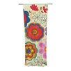 KESS InHouse Charming Floral Curtain Panels (Set of 2)