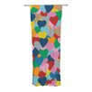 KESS InHouse More Hearts Curtain Panels (Set of 2)