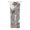 KESS InHouse Inky Paisley Bloom Curtain Panels (Set of 2)