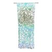 KESS InHouse Blue Bloom Softly for You Curtain Panels (Set of 2)
