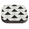 KESS InHouse Textured Triangles by Laurie Baars Geometric Abstract Coaster (Set of 4)