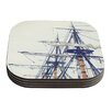 KESS InHouse Pirate Ship by Bree Madden Coaster (Set of 4)