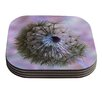KESS InHouse Dandelion Clock by Alison Coxon Coaster (Set of 4)