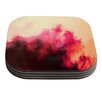 KESS InHouse Painted Clouds II by Caleb Troy Coaster (Set of 4)