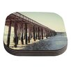 KESS InHouse Ventura Pier by Bree Madden Coaster (Set of 4)