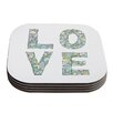 KESS InHouse Four Letter Word by Skye Zambrana Coaster (Set of 4)