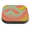 KESS InHouse Way of the Waves by Akwaflorell Coaster (Set of 4)