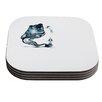 KESS InHouse Hot Tub Hunter by Graham Curran Coaster (Set of 4)