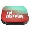 KESS InHouse Toi Histoire by Danny Ivan Coaster (Set of 4)