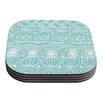 KESS InHouse Beach Blanket Bingo by Catherine Holcombe Coaster (Set of 4)