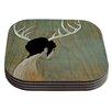 KESS InHouse Antlers by Jaidyn Erickson Coaster (Set of 4)