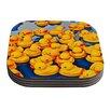 KESS InHouse Duckies by Maynard Logan Coaster (Set of 4)