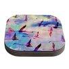 KESS InHouse Flamingo in Flight by Nikki Strange Coaster (Set of 4)