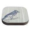 KESS InHouse Blue Jay by Sam Posnick Coaster (Set of 4)