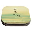 KESS InHouse Across The Endless Sea by Robin Dickinson Coaster (Set of 4)