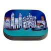 KESS InHouse Venice by Theresa Giolzetti Coaster (Set of 4)