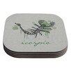 KESS InHouse Scorpio by Belinda Gillies Coaster (Set of 4)