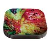 KESS InHouse Passion Flowers I by Mary Bateman Coaster (Set of 4)