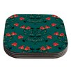 KESS InHouse Hummingbird by Yenty Jap Coaster (Set of 4)