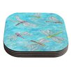 KESS InHouse Dragonfly by Rosie Coaster (Set of 4)