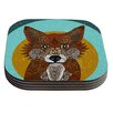 KESS InHouse Colored Fox by Art Love Passion Coaster (Set of 4)