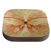 KESS InHouse Papillon by Alison Coxon Coaster (Set of 4)