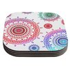 KESS InHouse Rainbow Infinity by Monika Strigel Coaster (Set of 4)