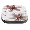 KESS InHouse Flower by Alison Coxon Coaster (Set of 4)