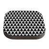 KESS InHouse Happy X-Mas by Gabriela Fuente Geometric Monotone Coaster (Set of 4)