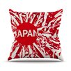 KESS InHouse Japan by Danny Ivan World Cup Throw Pillow