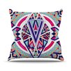 KESS InHouse Abstract Journey by Pom Graphic Circular Tribal Throw Pillow