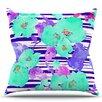 KESS InHouse Cherry Blossom by Emine Ortega Throw Pillow