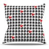 KESS InHouse Spacey Houndstooth Heart by Empire Ruhl Throw Pillow